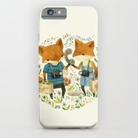 fox iPhone & iPod Cases featuring Fox Friends by Teagan White