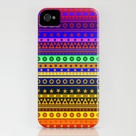 Rainbow Stripes Pattern iPhone (4, 4s) Slim Case