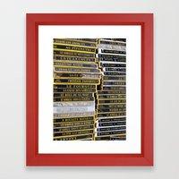 Paris Flea Market Books Framed Art Print