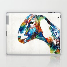 Colorful Goat Art By Sharon Cummings Laptop & iPad Skin