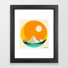 GLACIER NATIONAL PARK, Two Medicine Lake Framed Art Print