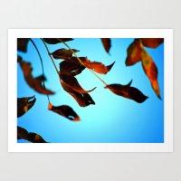 Wake Up Leaves Art Print