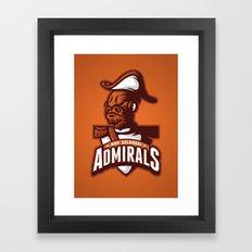 Mon Calamari Admirals on Orange Framed Art Print