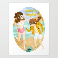 moonrise kingdom Art Prints featuring Moonrise Kingdom by Irena Freitas
