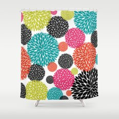 Tropical Flowers Shower Curtain