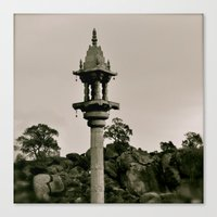 A kind of Minaret in India Canvas Print