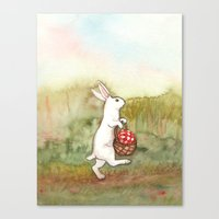 On the Way to the Picnic Canvas Print