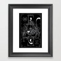 ENDURE LIONS Framed Art Print