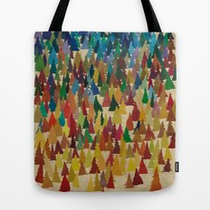 Colorful Conifers Tote Bag