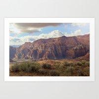 snow canyon Art Print