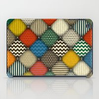 buttoned patches retro iPad Case