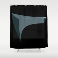 Deep Black Shower Curtain