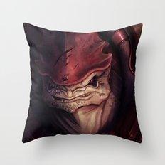 Mass Effect: Urdnot Wrex Throw Pillow