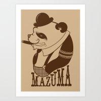 Panda Palooka Pitchin Woo Art Print