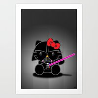 Dark Kitten Art Print
