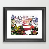 Summer Cycling Framed Art Print