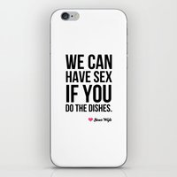 Sex for Dishes iPhone & iPod Skin