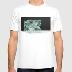 neon cube Mens Fitted Tee White SMALL
