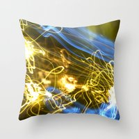 Explosion Of Colors Throw Pillow