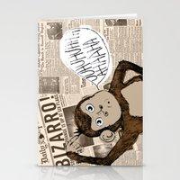 Bizarro Monkey Stationery Cards