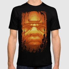 Olmeca II. (Gold) Mens Fitted Tee Black SMALL