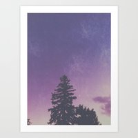 Purple Pines Art Print