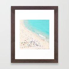 beach love III square Framed Art Print