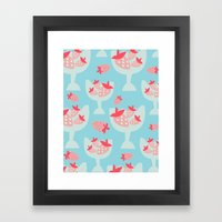 Strawberry Dessert Framed Art Print