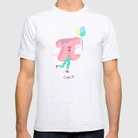 Cutie Pi Mens Fitted Tee Ash Grey SMALL