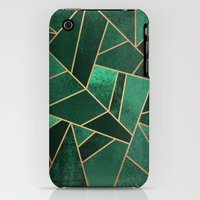 iPhone 3Gs & iPhone 3G Cases featuring Emerald and Copper by Elisabeth Fredriksson