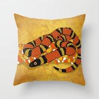Mexican Candy Corn Snake Throw Pillow