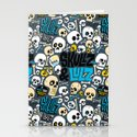 Skullz & Lulz Pattern Stationery Cards