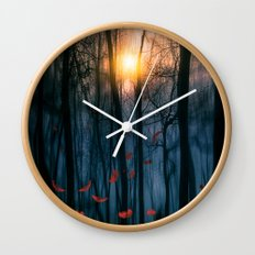 Red feather dance  (colour option) Wall Clock
