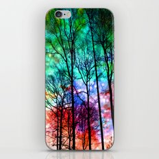Colorful Abstract Forest iPhone & iPod Skin