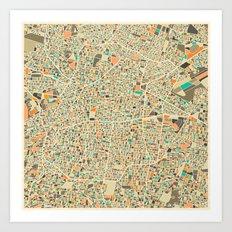 Mexico City Map Art Print