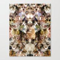 Cat Kaleidoscope Canvas Print