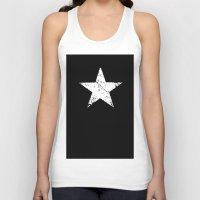 Black White Grunge Star … Unisex Tank Top