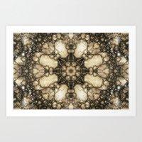 Lacy Mosaic - Fractal Art Art Print