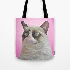 grumpy-cat-pink Tote Bag