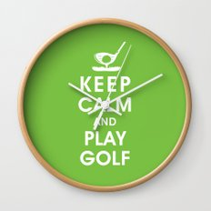 Keep Calm and Play Golf Wall Clock