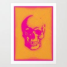 a skull Art Print