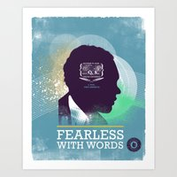FEARLESS: With Words - L… Art Print