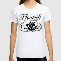 Flourish & Blotts of Diagon Alley Womens Fitted Tee Ash Grey SMALL