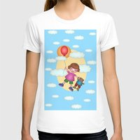 Above The Clouds Womens Fitted Tee White SMALL