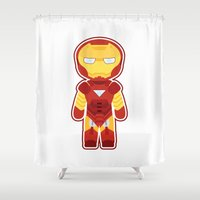 Chibi Iron Man Shower Curtain
