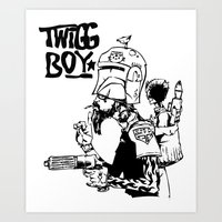 Twig Boy Art Print