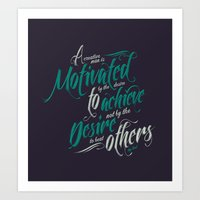 Motivated Art Print