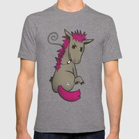Punk Ass Mens Fitted Tee Tri-Grey SMALL