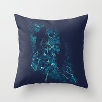 For all the Gold Under the Stars Throw Pillow