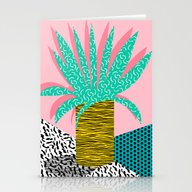 In The Mix - 80's Neon H… Stationery Cards